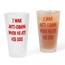 HE ATE THE FAMILY PET Drinking Glass
