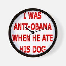 HE ATE THE FAMILY PET Wall Clock