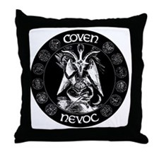coven nevoc logo Throw Pillow