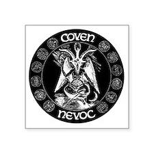 "coven nevoc logo Square Sticker 3"" x 3"""