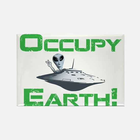 Occupy Earth! Rectangle Magnet