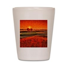 Fiery Sunrise Over the 16th Green Showe Shot Glass