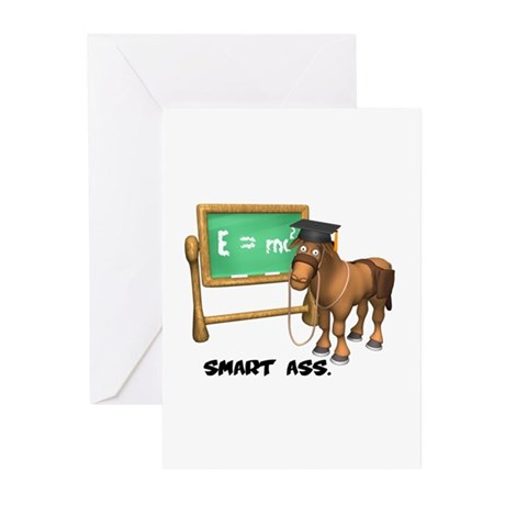 Smart Ass Donkey Greeting Cards (Pk of 10)