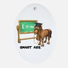 Smart Ass Donkey Oval Ornament