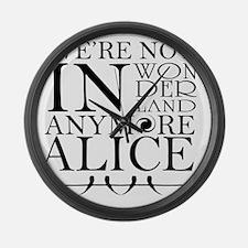 Wonderland Large Wall Clock
