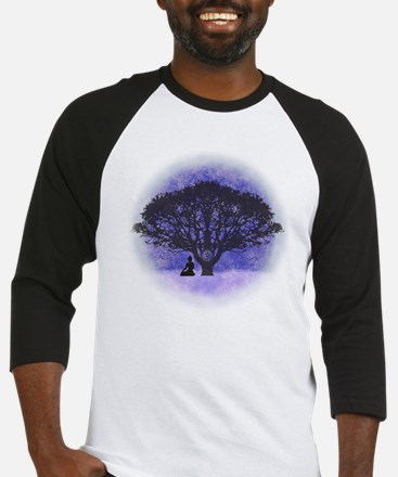 Buddha Beneath the Bodhi Tree-Ligh Baseball Jersey