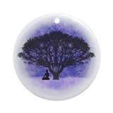 Bodhi tree Round Ornaments
