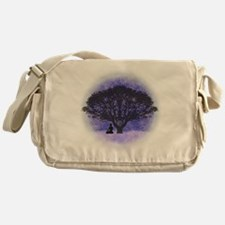 Buddha Beneath the Bodhi Tree-Light Messenger Bag