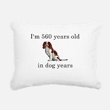 80 birthday dog years springer spaniel Rectangular