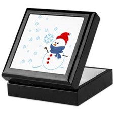 Cute Snowman Keepsake Box
