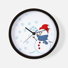 Cute Snowman Wall Clock