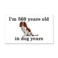80 birthday dog years springer spaniel 2 Rectangle