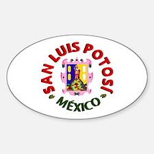 San Luis Potosí Oval Decal