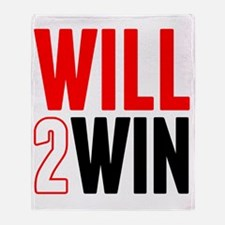 Will2Win Red and Black Throw Blanket