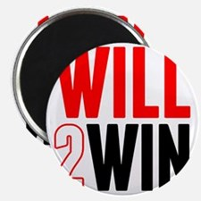 Will2Win Red and Black Magnet