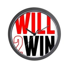Will2Win Red and Black Wall Clock
