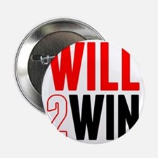 "Will2Win Red and Black 2.25"" Button"