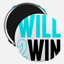 Will2Win Baby Blue  Black Magnet