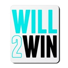 Will2Win Baby Blue  Black Mousepad