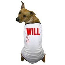 Will2Win Red and White Dog T-Shirt