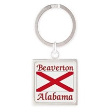 Beaverton Alabama Square Keychain