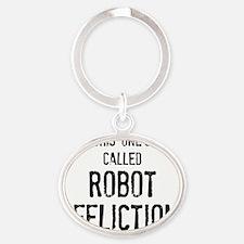 robotnovelty Oval Keychain