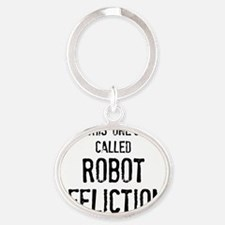 robotaff Oval Keychain