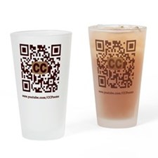 CCPoems QR Logo Drinking Glass