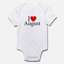 """I Love August"" Infant Bodysuit"