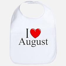 """""""I Love August"""" Bib"""