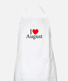 """I Love August"" BBQ Apron"
