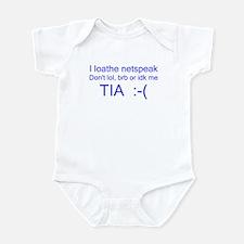 I Loathe Netspeak Infant Bodysuit