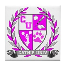 Catnip University Crest Tile Coaster