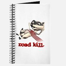 Funny Road Kill Racoon Journal
