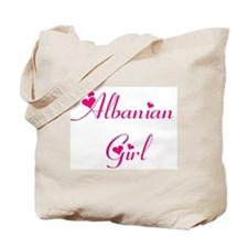Albanian Girl Tote Bag