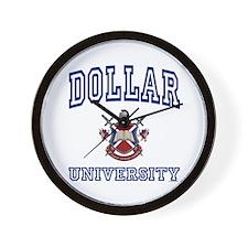 DOLLAR University Wall Clock