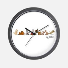 Dog Addict Wall Clock
