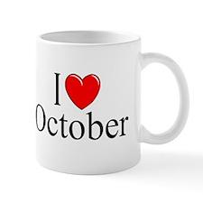 """""""I Love October"""" Mug"""