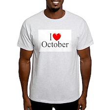 """I Love October"" T-Shirt"