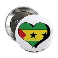"""I Love Sao Tome & Principe 2.25"""" Button (100 pack)"""