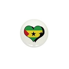 I Love Sao Tome & Principe Mini Button (100 pack)