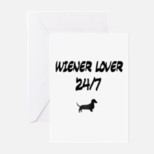 Wiener Lover 24/7 Dachshund Greeting Cards (Packag