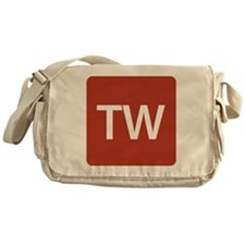 Triple-Word Messenger Bag