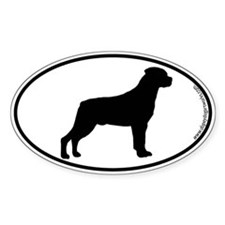 Rottweiler SILHOUETTE Oval Bumper Stickers