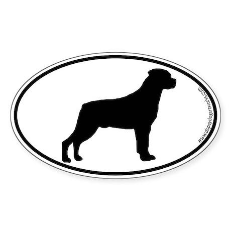 Rottweiler SILHOUETTE Oval Sticker