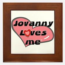 jovanny loves me  Framed Tile