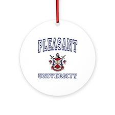 PLEASANT University Ornament (Round)