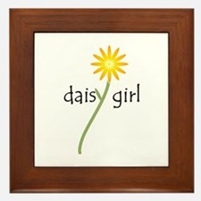 Daisy Girl Framed Tile
