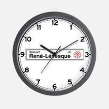 Boulevard Rene-Levesque, Montreal (CA) Wall Clock
