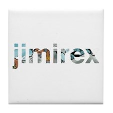 jimirex almighty sticker Tile Coaster
